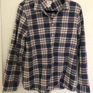 Jcrew Factory plaid button down shirt. Size Large